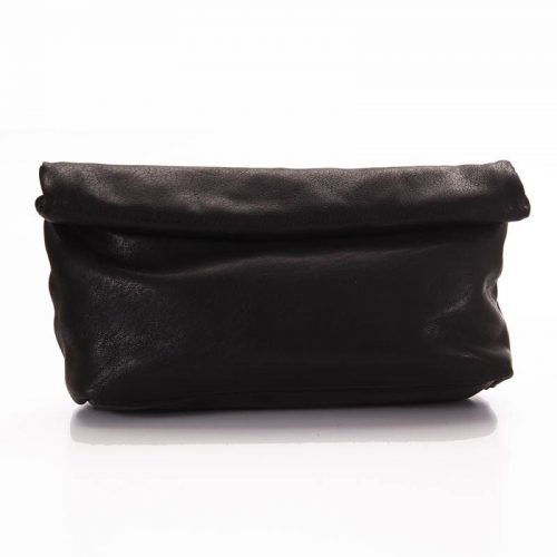 Black Roll Clutch Bag 1