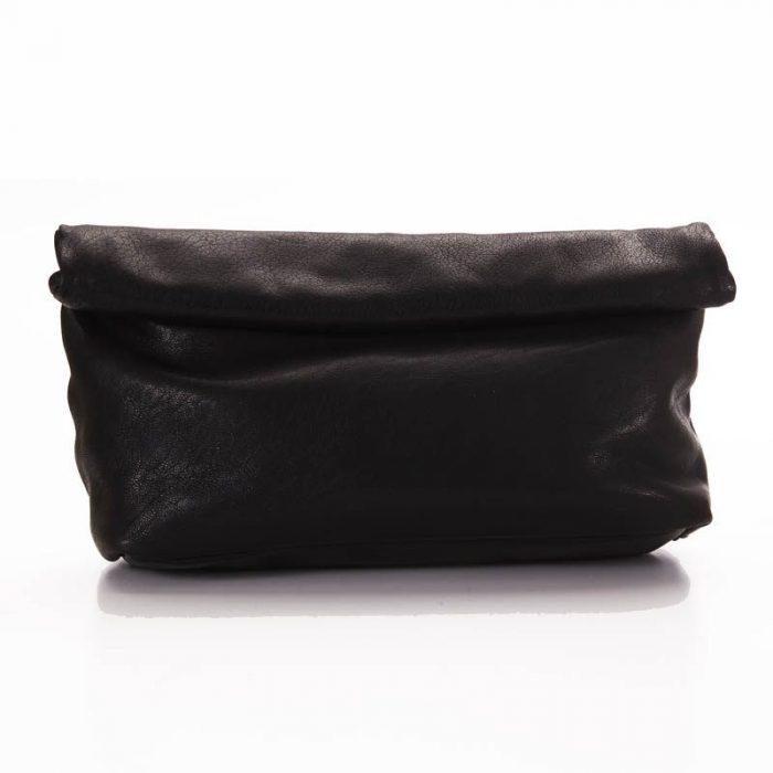 Black Roll Clutch Bag 1