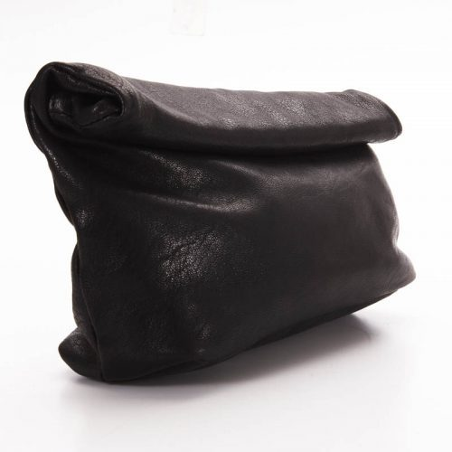 Black Roll clutch Bag 2