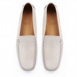 CLASSIC LIGHT GREY LEATHER LOAFER FINAL PAIR