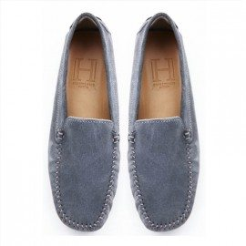 CLASSIC MID GREY SUEDE  LOAFER FINAL PAIR