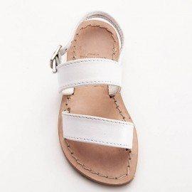 Child Classic Band White Sandal 1