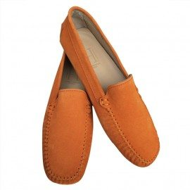 Classic Orange Suede Loafer Final Pair