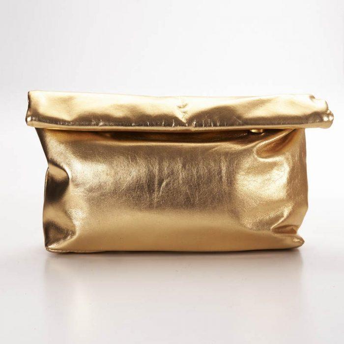 Gold Roll Clutch Bag 1