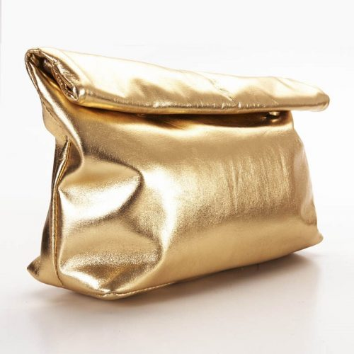 Gold Roll clutch bag 2
