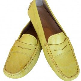 Marina Yellow Leather Loafer