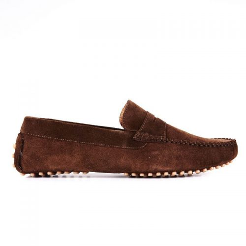 Mens Marina Chocolate Suede Loafer 2
