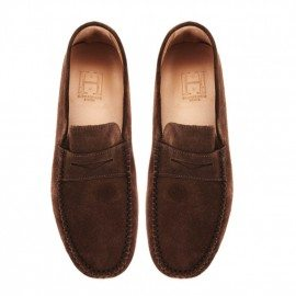 Mens Marina Chocolate Suede Loafer Final Pair