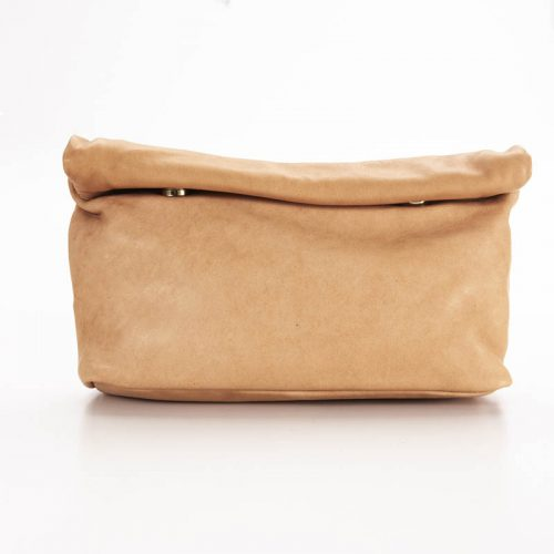 Raw Tan Roll Clutch Bag 1