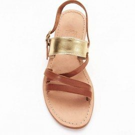 Roman Sandal Two tone Gold
