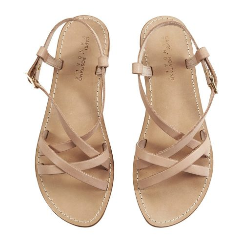 Sabatina raw tan light sandal 1 capri positano sandals italian sandals