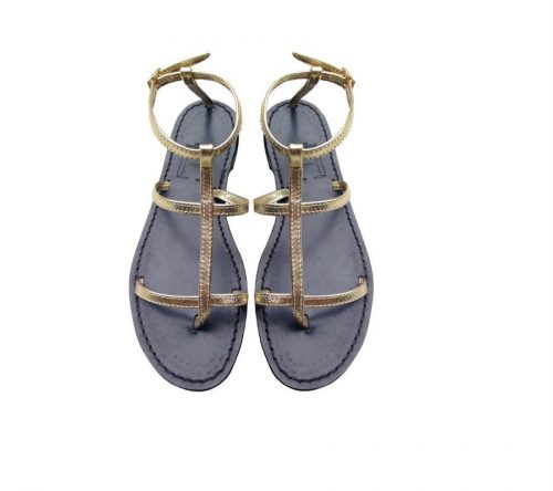 X Triple Strap black sole sandal 1
