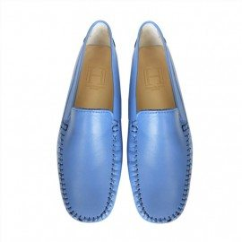 classic electric blue leather loafer final pair