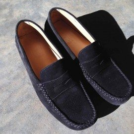 Loafers black suede