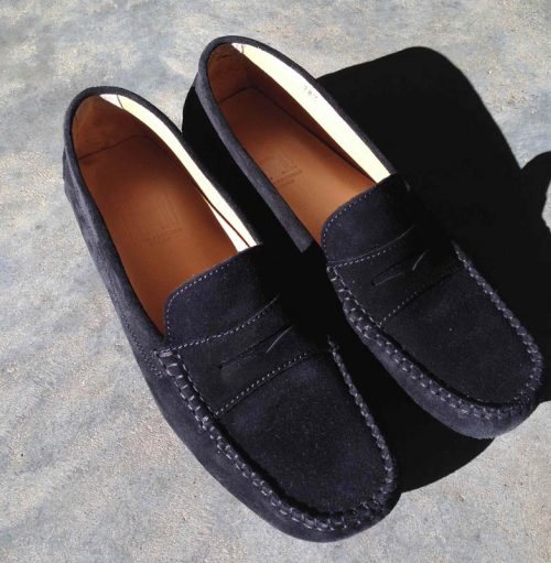 n. Loafers black suede