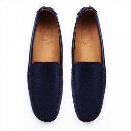CLASSIC NAVY LEATHER LOAFER FINAL PAIR