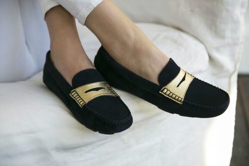 a. Posillipo Loafer with band Navy Gold 4