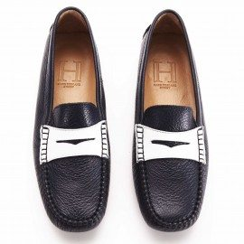 b. Posillipo Loafer with band Navy White 1
