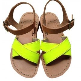 Childs Cross Front two tone sandal 1