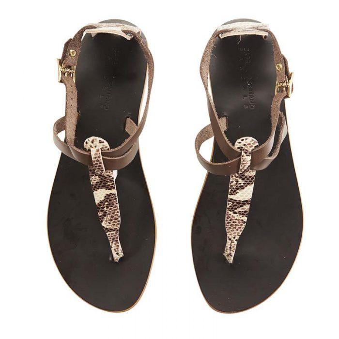 Minerva testa di moro and python sandal 1 capri positano sandals italian sandals